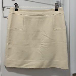 JCrew Factory Cream Wool Mini Skirt